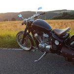 Honda VT 600 Bobber Sonnenuntergang