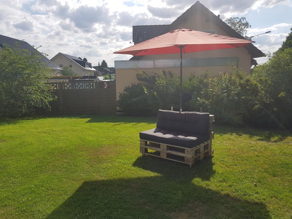 Ecksofa selber bauen schonheit palettensofa - Gartengestaltungsideen mit gabionen ...